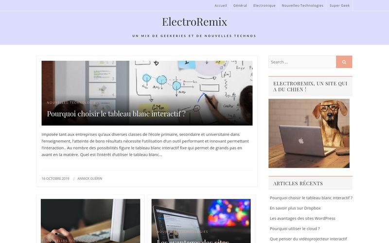 ElectroRemix - Un mix de geekeries et de nouvelles technos