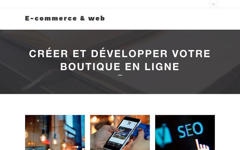 E-commerce & web - Créer et développer votre boutique en ligne