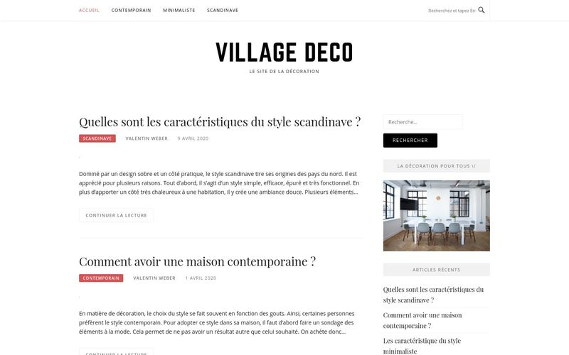 Village deco - Le site de la décoration