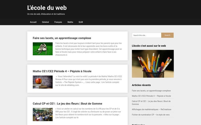 L'école du web - Un mix de web, d'éducation et de traditions
