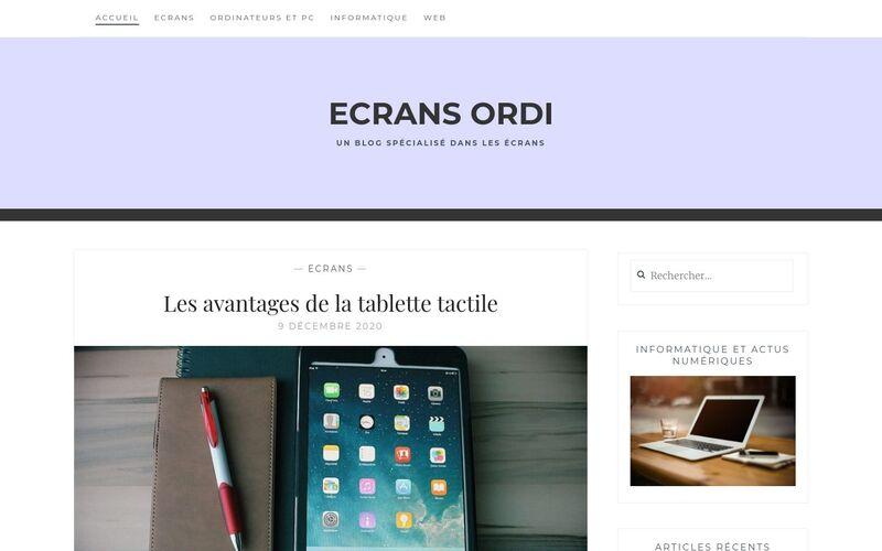 Ecrans ordi - Un blog spécialisé dans les écrans