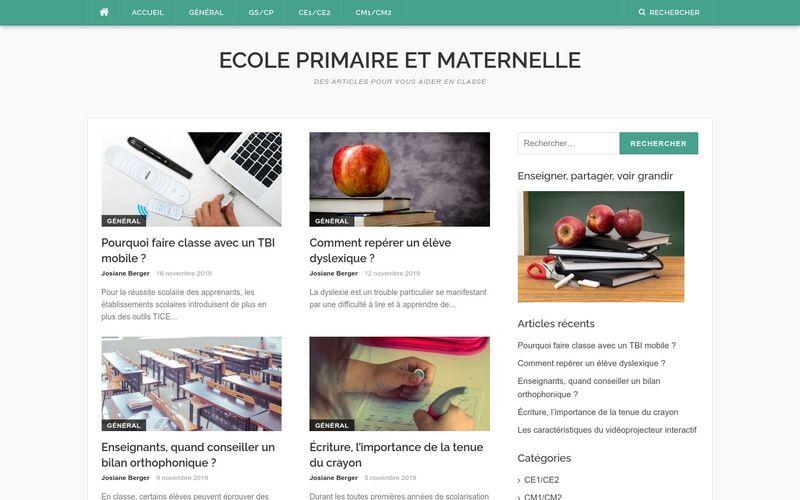 Ecole primaire et maternelle - Des articles pour vous aider en classe